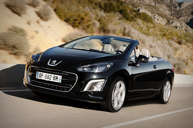peugeot 308cc convertible | book it at Rental Center Crete