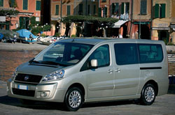 hire a Fiat Scudo *9 Seater* in crete