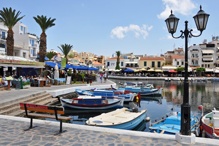 Rental Center Crete Agios Nikolaos at the port