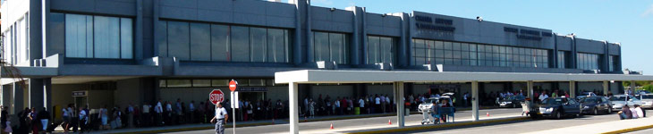 Chania airport terminal - outside view