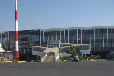 car rental at heraklion airport outside departures terminal