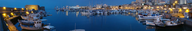 heraklion port panorama