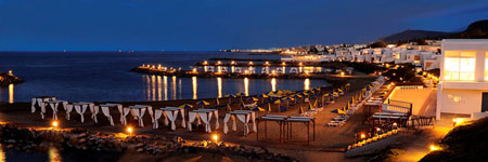 port of kokkini hani night view   travel guide of kokkin hani