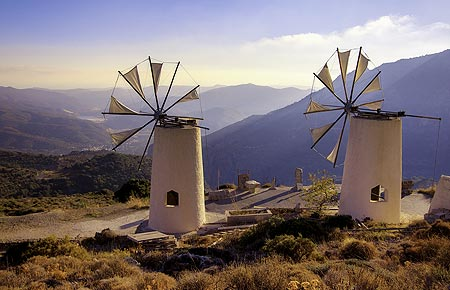 The famous windmills in Lasithi